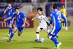 Koji Miyoshi (c) of Kawasaki Frontale (JPN) battles for the ball with Diego Eli Moreira (l) of Eastern SC (HKG) during the AFC Champions League 2017 Group G match between Eastern SC (HKG) and Kawasaki Frontale (JPN) at the Mongkok Stadium on 01 March 2017 in Hong Kong, China. Photo by Chris Wong / Power Sport Images