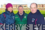 Dromid fans pictured at the match in Portlaoise on Sunday, from left: Karen O'Leary, Sean O'Leary and David O'Shea (all from Dromid).