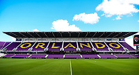 Orlando, FL - Saturday October 14, 2017: Orlando City Stadium during the NWSL Championship match between the North Carolina Courage and the Portland Thorns FC at Orlando City Stadium.