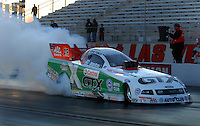 Jan 21, 2007; Las Vegas, NV, USA; NHRA Funny Car driver John Force does a burnout during preseason testing at The Strip at Las Vegas Motor Speedway in Las Vegas, NV. Mandatory Credit: Mark J. Rebilas
