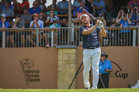 Martin Kaymer (GER) watches his tee shot on 16 during day 2 of the Valero Texas Open, at the TPC San Antonio Oaks Course, San Antonio, Texas, USA. 4/5/2019.<br /> Picture: Golffile | Ken Murray<br /> <br /> <br /> All photo usage must carry mandatory copyright credit (&copy; Golffile | Ken Murray)