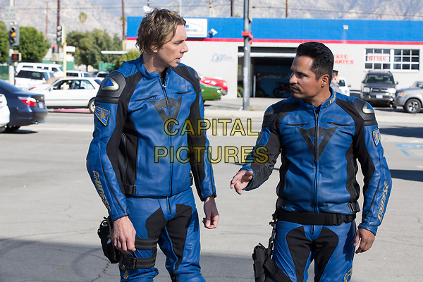 CHIPS (2017)<br /> DAX SHEPARD as Jon and MICHAEL PENA as Ponch<br /> *Filmstill - Editorial Use Only*<br /> FSN-K<br /> Image supplied by FilmStills.net