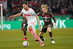 08.02.2019, RheinEnergieStadion, Koeln, GER, 2. FBL, 1.FC Koeln vs. FC St. Pauli,<br />  <br /> DFL regulations prohibit any use of photographs as image sequences and/or quasi-video<br /> <br /> im Bild / picture shows: <br /> Jonas Hector (FC Koeln #14),  im Zweikampf gegen  Mats Möller / Moeller Daehli (St Pauli #14), <br /> <br /> Foto © nordphoto / Meuter