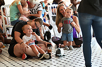 NWA Democrat-Gazette/SPENCER TIREY  Bailey Cloer sets with her son Marshall Cloer (2) and listens to a story Friday Sept. 6, 2019, at Peel Mansion during storyline. The Bentonville Public Library and the Peel Compton Foundation collaborated to bring children's storytimes to the Peel Mansion.