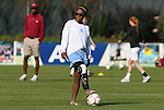 08 November 2009: North Carolina's Nikki Washington. The University of North Carolina Tar Heels defeated the Florida State University Seminoles 3-0 at WakeMed Stadium in Cary, North Carolina in the Atlantic Coast Conference Women's Soccer Tournament Championship game.