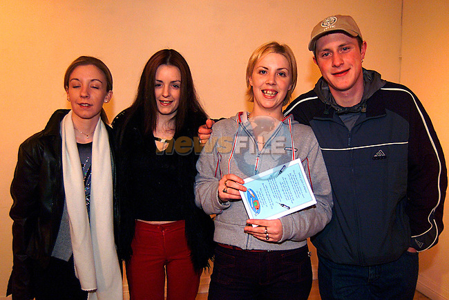 Fiona Kenna, Jenny Campbell, Lorna Shevlin, and Anthony Carlon at the launch of the two Short Films by the Drogheda Youthreach Student, in the Drogheda Arts Centre...Pic Tony Campbell/Newsfile