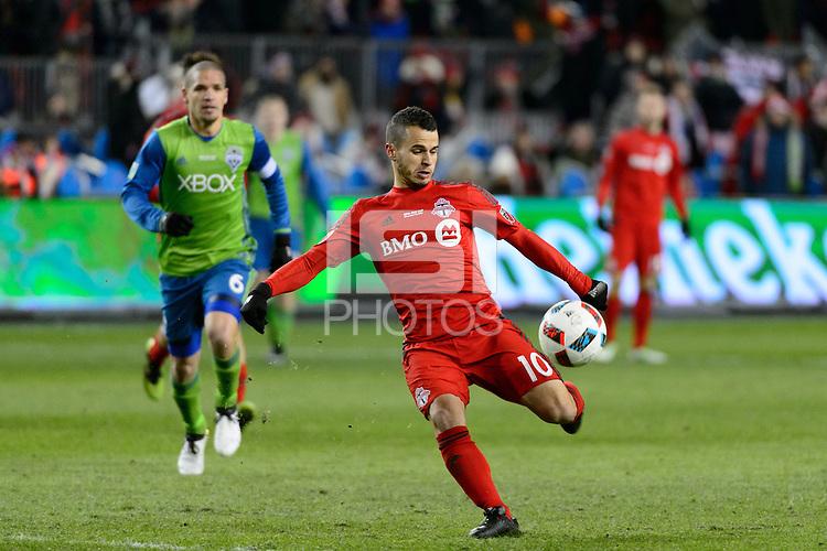 Toronto, ON, Canada - Saturday Dec. 10, 2016: Sebastian Giovinco during the MLS Cup finals at BMO Field.