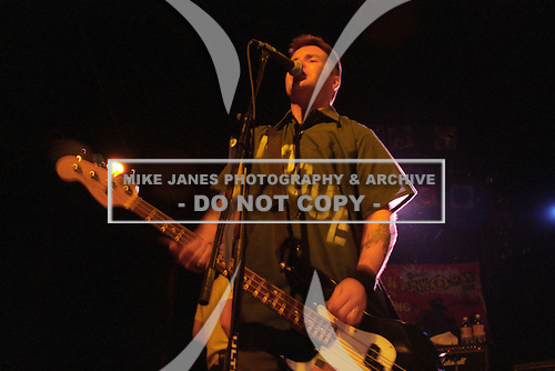 Ken Casey (bass) of the Dropkick Murphys performs at Water Street Music Hall in Rochester, New York circa March 2001.  Editors Note:  Date and venue not certain.  Photo Copyright Mike Janes Photography