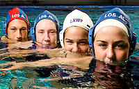 Los Alamitos High School water polo players
