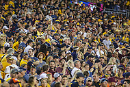 Landover, MD - September 3, 2017: West Virginia Mountaineers fans during game between Virginia Tech and WVA at  FedEx Field in Landover, MD.  (Photo by Elliott Brown/Media Images International)