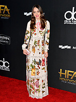 Zoe Kazan at the 21st Annual Hollywood Film Awards at The Beverly Hilton Hotel, Beverly Hills. USA 05 Nov. 2017<br /> Picture: Paul Smith/Featureflash/SilverHub 0208 004 5359 sales@silverhubmedia.com