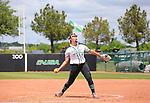 DENTON, TX - APRIL 21: University of North Texas Mean Green Softball vs. Florida International University Game 1, at Lovelace Field in Denton on April 22, 2018 in Denton, Texas. Photo by Rick Yeatts