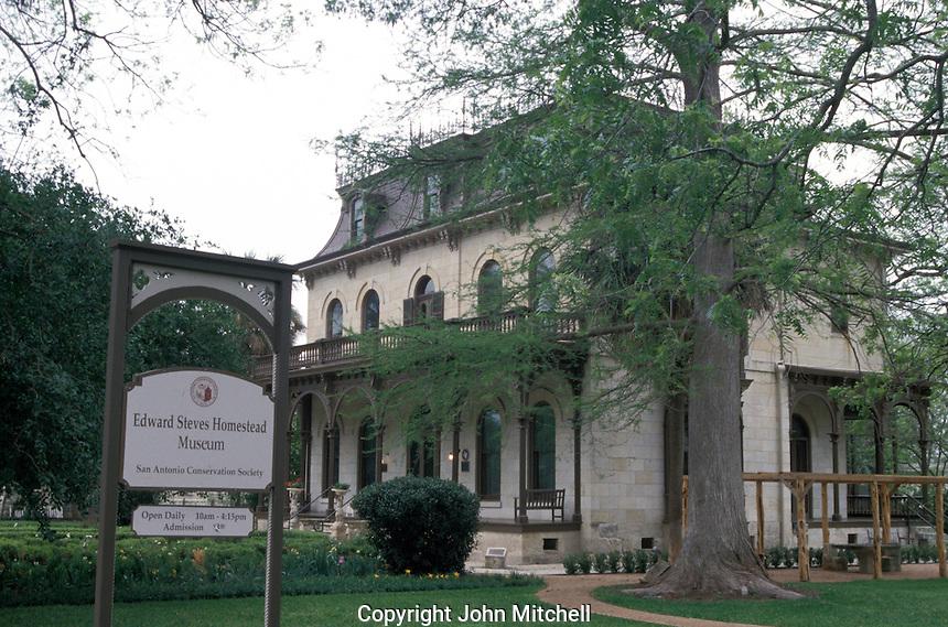 Edward Steaves Homestead Museum, King William district, San Antonio, Texas