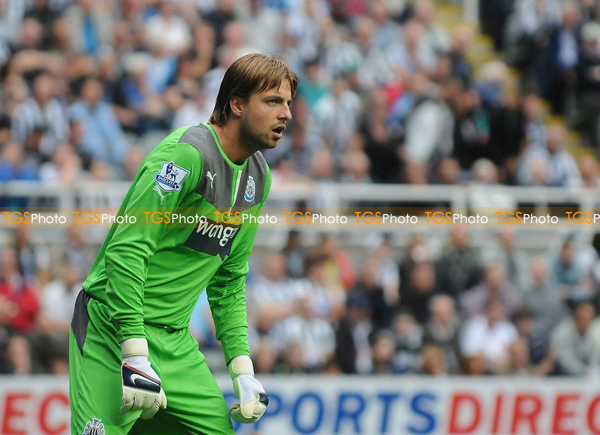 Tim Krul of Newcastle United - Newcastle United vs West Ham United - Barclays Premier League Football at St James Park, Newcastle upon Tyne - 24/08/13 - MANDATORY CREDIT: Steven White/TGSPHOTO - Self billing applies where appropriate - 0845 094 6026 - contact@tgsphoto.co.uk - NO UNPAID USE