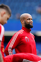 David McGoldrick of Sheffield United pulls a funny face during the Premier League match between Chelsea and Sheff United at Stamford Bridge, London, England on 31 August 2019. Photo by Carlton Myrie / PRiME Media Images.