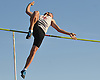 Chris Weiner of Middle Country clears the bar at 11 feet, 6 inches in the pole vault event during a Suffolk County boys' track and field meet against host Connetquot High School on Thursday, May 14, 2015. He went on to win the event with a successful vault at 12 feet, 6 inches.<br /> <br /> James Escher