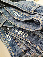 Gap 1969 brand jeans in a Gap store in New York on Monday, July 4, 2016.  (© Richard B. Levine)