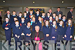 Pupils from Ciarán O'Muiracheartaigh class in St Oliver's NS who made their Confirmation in the Church of the Ressurection Killarney on Wednesday with Bishop Bill Murphy, Fr Cieran O'Brien, Fr Moses Muraya, Fr Pat Horgan and  Fr Niall Howard.