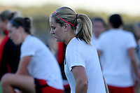 Piscataway, NJ - Sunday Sept. 25, 2016: Lindsey Horan prior to a regular season National Women's Soccer League (NWSL) match between Sky Blue FC and the Portland Thorns FC at Yurcak Field.