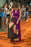 Spanish actress Alicia Borrachero poses for the photographers on the Orange Carpet for to present the TV serie Bajo Sospecha during of 6th 'FesTVal' Television Festival 2014 in Vitoria, northern Spain. September 05, 2014. (ALTERPHOTOS/Sirocco)