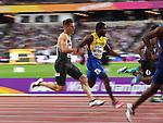 Julian Reus (GER) in the 100m heats. IAAF World athletics championships. London Olympic stadium. Queen Elizabeth Olympic park. Stratford. London. UK. 04/08/2017. ~ MANDATORY CREDIT Garry Bowden/SIPPA - NO UNAUTHORISED USE - +44 7837 394578