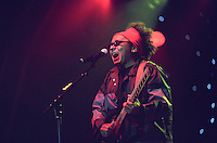 Chico Cesar. <br /> Brazilian singer, songwriter, journalist and politician. His compositions blend rhythms like carimb&oacute;, folia and forr&oacute; with pop music, reggae, salsa and juju music.<br /> WOMAD Festival, Reading, England, July 2003.