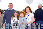 Ricky O'Rourke, Katie McCarthy, Leah Bartlett, Christina Bartlett from Brosna and Killarney enjoying the Listowel Races on Sunday