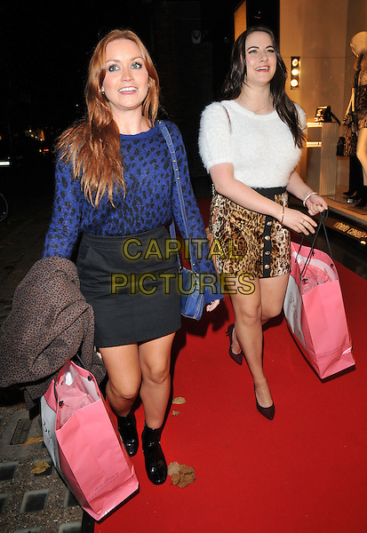 Arielle Free &amp; Kat Shoob attend the #Disaronno Wears Cavalli cocktail reception to mark new Disaronno Limited Edition bottle by Cavalli, Roberto Cavalli boutique, Sloane Street, London, England, UK, on Wednesday 04 November 2015. <br /> CAP/CAN<br /> &copy;Can Nguyen/Capital Pictures