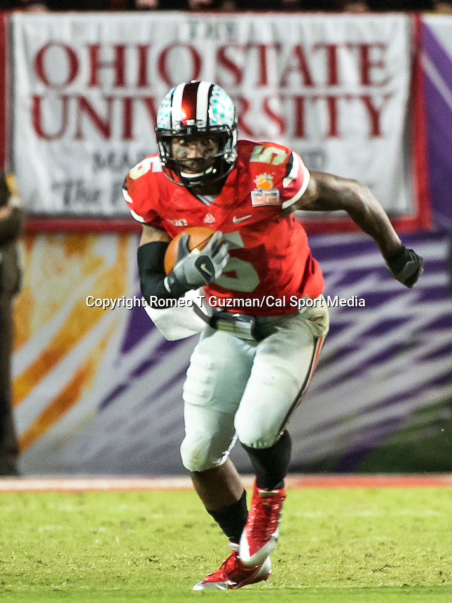 January 4, 2014 - Miami Gardens, Florida, U.S: \  during second half action of the Discover Orange Bowl between the Clemson Tigers and the Ohio State Buckeyes. Clemson defeated Ohio State 40-35 at Sun Life Stadium in Miami Gardens, Fl
