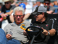 Jun 10, 2017; Englishtown , NJ, USA; NHRA funny car team owner Jim Head (left) with son Chad Head during qualifying for the Summernationals at Old Bridge Township Raceway Park. Mandatory Credit: Mark J. Rebilas-USA TODAY Sports