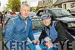 Family driving<br /> ------------------<br /> Charlie Hickey with his son Johnny from Killarney at the finish of the 27th running of the rally of the Lakes last Sunday evening outside the GlenEagle hotel in the town