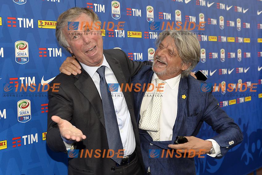 Milano 22-07-2016 - presentazione calendari serie A 2016-2017 / foto Daniele Buffa/Image Sport/Insidefoto<br /> nella foto: Massimo Ferrero-Enrico Preziosi
