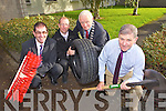 The launch of the Kerry County Council Winter Preparedness Programme on Thursday. From left: Tom Curran, County Manager, John Kennelly, Water Services, Mayor of Kerry Tim Buckley and Ger MacNamara, Roads and Transportation.