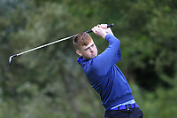 Evan Nealon (Enniscrone) on the 1st tee during the Connacht U12, U14, U16, U18 Close Finals 2019 in Mountbellew Golf Club, Mountbellew, Co. Galway on Monday 12th August 2019.<br /> <br /> Picture:  Thos Caffrey / www.golffile.ie<br /> <br /> All photos usage must carry mandatory copyright credit (© Golffile | Thos Caffrey)