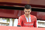 """Maximilian Richard """"Max"""" Walscheid (GER) Team Sunweb at sign on before the start of Stage 4 of La Vuelta 2019 running 175.5km from Cullera to El Puig, Spain. 27th August 2019.<br /> Picture: Eoin Clarke 