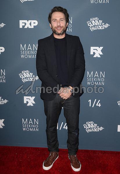 "03 January 2017 - Los Angeles, California - Charlie Day. Premiere Of FXX'""It's Always Sunny In Philadelphia"" Season 12 And ""Man Seeking Woman"" Season 3 held at Fox Bruin Theatre. Photo Credit: F. Sadou/AdMedia"