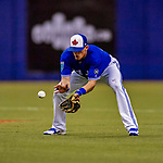 26 March 2018: Toronto Blue Jays infielder Cavan Biggio, son of Craig Biggio, in action during an exhibition game against the St. Louis Cardinals at Olympic Stadium in Montreal, Quebec, Canada. The Cardinals defeated the Blue Jays 5-3 in the first of two MLB pre-season games in the former home of the Montreal Expos. Mandatory Credit: Ed Wolfstein Photo *** RAW (NEF) Image File Available ***26 March 2018: Toronto Blue Jays infielder Cavan Biggio, son of Craig Biggio, warms up between innings of an exhibition game against the St. Louis Cardinals at Olympic Stadium in Montreal, Quebec, Canada. The Cardinals defeated the Blue Jays 5-3 in the first of two MLB pre-season games in the former home of the Montreal Expos. Mandatory Credit: Ed Wolfstein Photo *** RAW (NEF) Image File Available ***