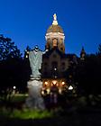 July 13, 2020; Main Quad at dusk (Photo by Matt Cashore/University of Notre Dame)