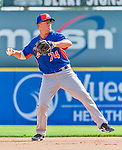 5 March 2015: New York Mets infielder Danny Muno warms up prior to a Spring Training game against the Washington Nationals at Space Coast Stadium in Viera, Florida. The Mets fell to the Nationals after a late inning rally, dropping a 5-4 Grapefruit League game. Mandatory Credit: Ed Wolfstein Photo *** RAW (NEF) Image File Available ***