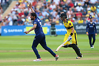 Mohammad Amir of Essex claims the wicket of Benny Howell during Gloucestershire vs Essex Eagles, NatWest T20 Blast Cricket at The Brightside Ground on 13th August 2017
