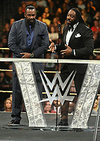 NEW YORK, NY - APRIL 6: Booker T and Stevie Ray Harlem Heat at the 2019 WWE Hall Of Fame Ceremony at the Barclay's Center in Brooklyn, New York City on April 6, 2019.      <br /> CAP/MPI/GN<br /> ©GN/MPI/Capital Pictures