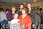 Fashion Show in Scartaglen Heritage Centre on Friday night, in aid of Scartaglen Ladies Football team.  Pictured here were back row L-R : Eileen Spillane, Mary Mahony both of Scartaglen and Norma O'Connor of Cordal.  Front Row L-R : Hannah Herlihy of Castleisland and Hannah-Mai Murphy of Scartaglen.