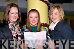 NIGHT OUT: Lisa Murtagh (New York Rose 2008) with friends at the Kingdom Greyhound Stadium Tralee on Friday night. l-r: Lisa Murtagh, Michelle Reale and Niamh Butler (Askeating)......