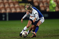 Josie Green of Tottenham Hotspur women  and Inessa Kaagman of Everton women  during Tottenham Hotspur Women vs Everton Women, Barclays FA Women's Super League Football at the Hive Stadium on 12th February 2020