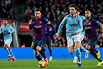 Lionel Andres Messi of FC Barcelona (L) and Okay Yokuslu of RC Celta de Vigo run for the ball during the La Liga 2018-19 match between FC Barcelona and RC Celta de Vigo at Camp Nou on 22 December 2018 in Barcelona, Spain. Photo by Vicens Gimenez / Power Sport Images