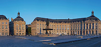 Place de la Bourse. Bordeaux city, Aquitaine, Gironde, France