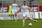 GER - Sandhausen, Germany, March 19: During the 2. Bundesliga soccer match between SV Sandhausen (white) and FC ST. Pauli (grey) on March 19, 2016 at Hardtwaldstadion in Sandhausen, Germany. (Photo by Dirk Markgraf / www.265-images.com) *** Local caption *** Damian Rossbach #4 of SV Sandhausen