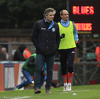 Wycombe manager Gareth Ainsworth watches on during the Sky Bet League 2 match between Wycombe Wanderers and Luton Town at Adams Park, High Wycombe, England on 6 February 2016. Photo by Liam Smith.