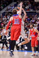 Real Madrid's Rudy Fernandez and CSKA Moscow Andrey Vorontsevich during Turkish Airlines Euroleague match between Real Madrid and CSKA Moscow at Wizink Center in Madrid, Spain. January 06, 2017. (ALTERPHOTOS/BorjaB.Hojas)