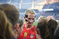 Saint Paul, MN - SEPTEMBER 03: Samantha Mewis #3 of the United States during their 2019 Victory Tour match versus Portugal at Allianz Field, on September 03, 2019 in Saint Paul, Minnesota.